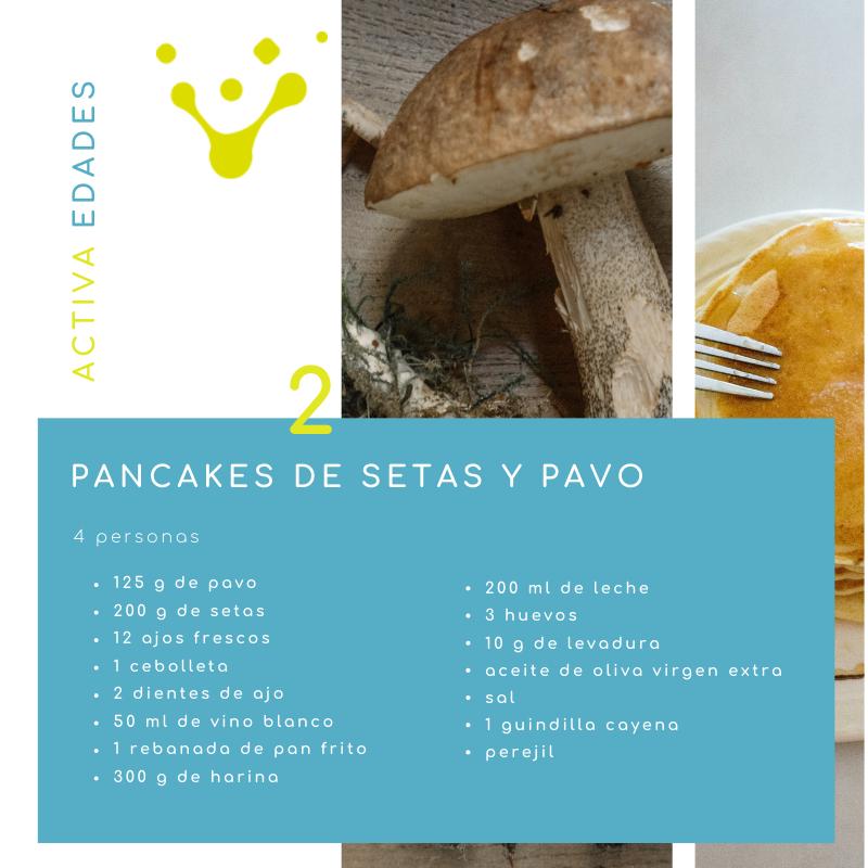 Ingredientes pancakes de setas y pavo