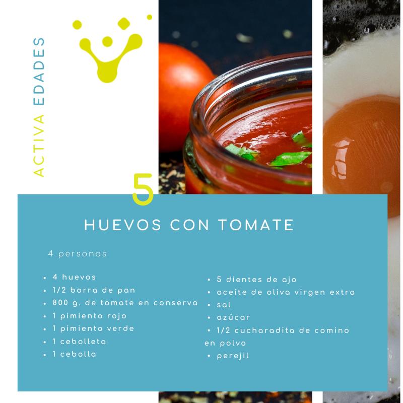 Ingredientes huevos con tomate